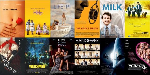 Posters de algunas películas que utilizan alguna de las fuentes de la familia Futura