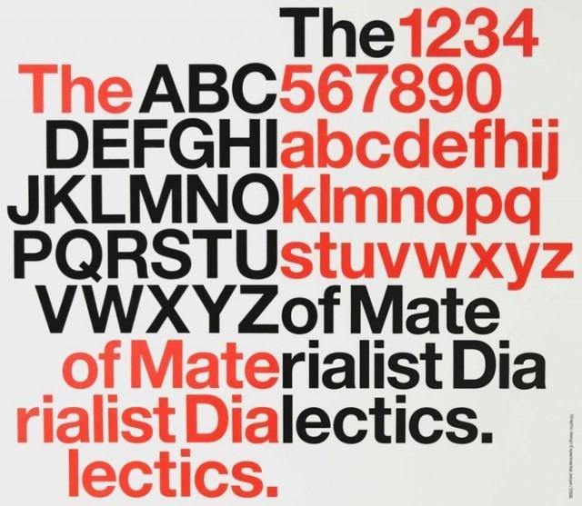 Imagen del cartel del documental sobre la tipografía Helvética