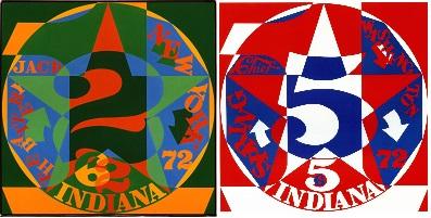 Década autorretrato 1962 (1972) y Década autorretrato 1965 (1972), de Robert Indiana