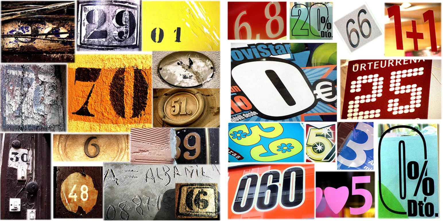 La tipografía de los números (1) - Cuaderno de Cultura Científica