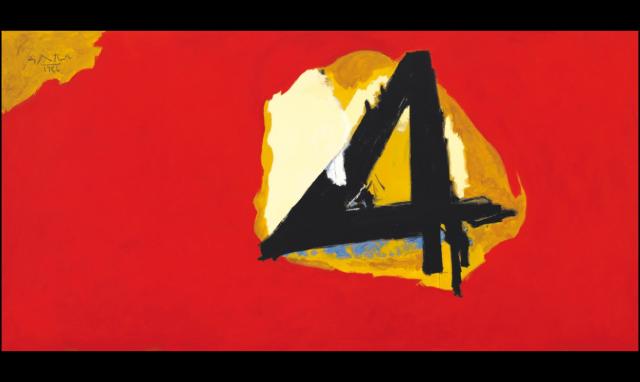 El gran cuatro, de Robert Motherwell (1986)