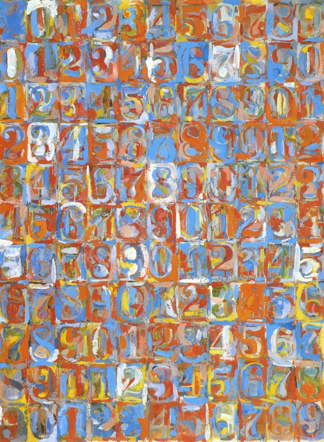 Números en color, de Jasper Johns (1959)