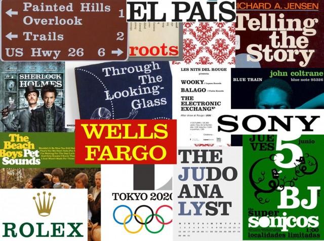 Algunos ejemplos del uso de la fuente Clarendon en logotipos –El País, Sony, Rolex, Wells Fargo, etc-, carteles publicitarios, carátulas de discos, portadas de libros, carteles de cine, señales de tráfico o calendarios