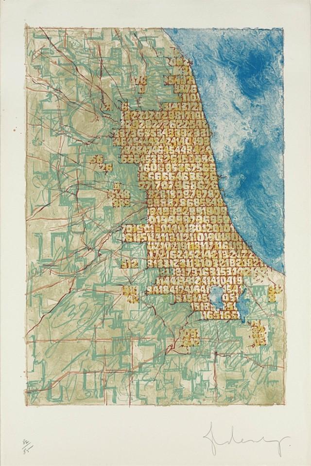 Chicago abarrotado de números, Claes Oldenburg (1977)