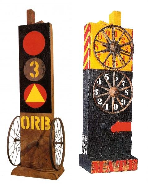 Ensamblajes ORB (1960) y MATE (1960-62), de Robert Indiana