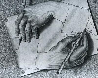 M.C. Escher, Drawing Hands, 1948