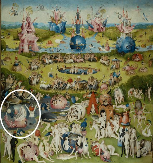Figura 3: panel central de El Jardín de las Delicias.