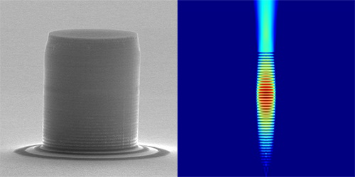 Un átomo artificial para una máquina de muestreo bosónico