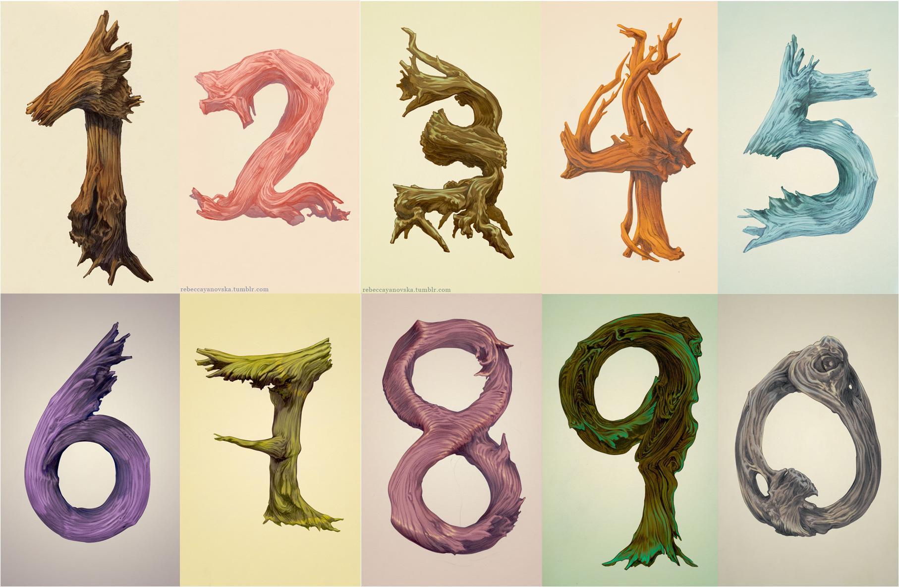 Numero 10 Con Imagenes: La Tipografía De Los Números (2)