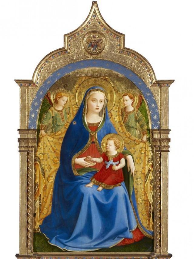 """""""La Virgen de Granada"""" de Fra Angelico. Hacia 1426. Temple sobre tabla, 87 x 59 cm."""