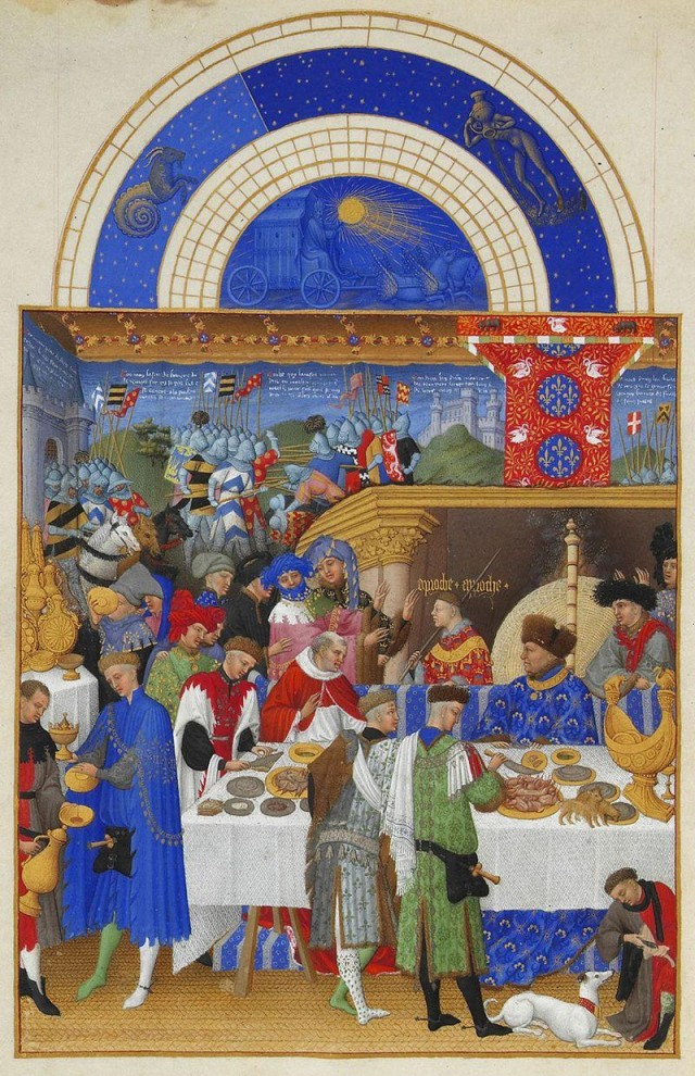 Imagen 1. Minatura sobre pergamino en el manuscrito Très Riches Heures de los hermanos Limbourg (1412-1416).