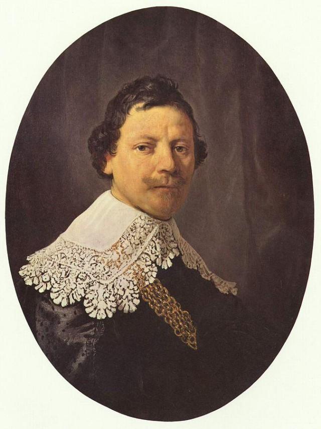 Imagen 4. Rembrandt usaba mucho el negro de hueso como se ha comprobado en el Retrato de Philips Lucasz (80x50cm, 1635). Fuente