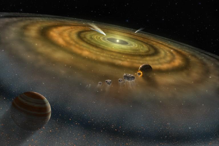 Curio: un elemento sintético durante la formación del Sistema Solar