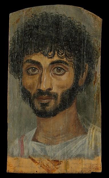 Imagen 5. Retrato de un joven realizado en encáustica (38x22cm) del siglo II d.C. Fuente: The Met Museum