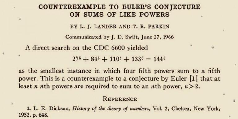 Euler y el último teorema de Fermat