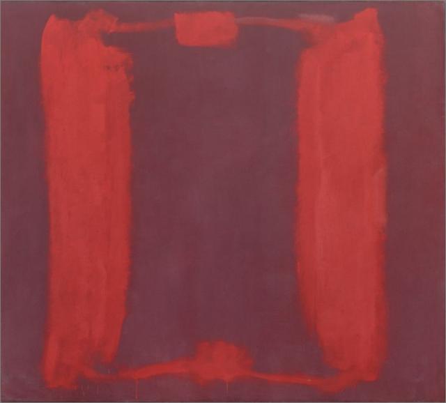 Imagen 5. Restauración digital del Panel 1 del los Murales de Harvard (267x289) de Mark Rothko (1962)