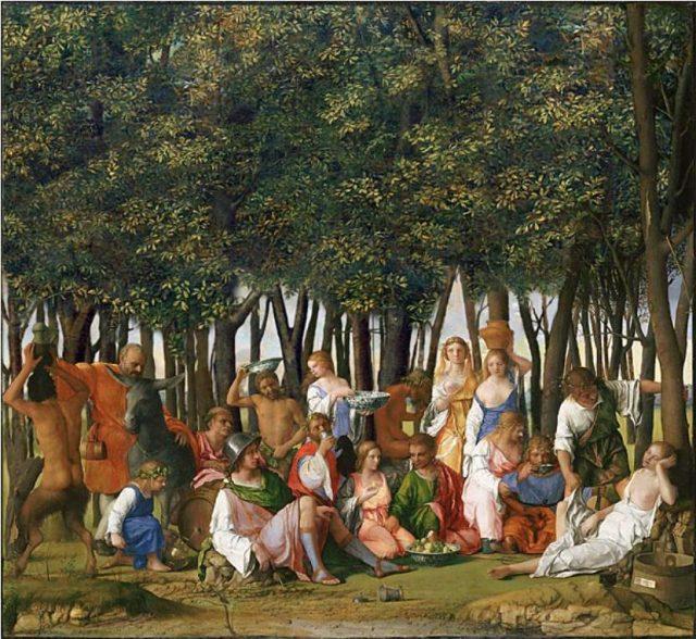 Imagen 6. Reconstrucción de la obra realizado por Bellini en 1514.