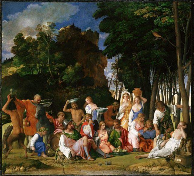 El Festín de los Dioses (170x188 cm). Fuente: WebExhibits