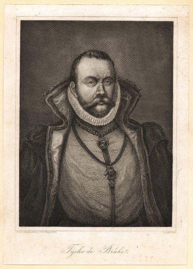 Grabado de Tycho Brahe realizado por el artista Johann-Leonhard Appold en 1840