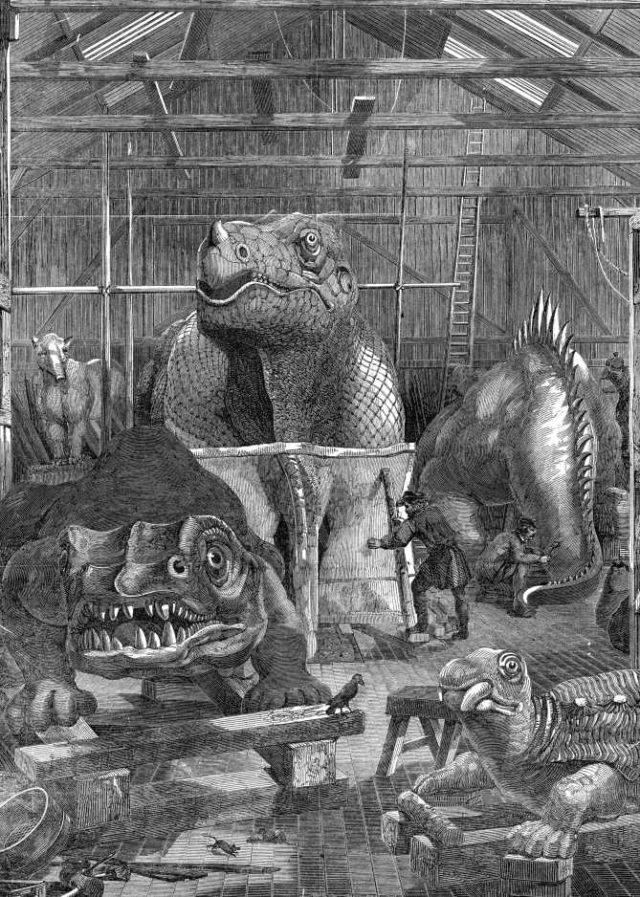 Estudio de Benjamin W. Hawkins en Sydenham donde creó los dinosaurios de Crystal Park