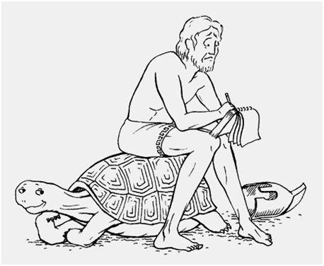 La Tortuga combate a Aquiles