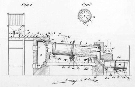 J.F. Navarro. Un horno para cemento (1896). Patente 19765 Ministerio de Industria, Turismo y Comercio. Oficina Española de Patentes y Marcas. Archivo Histórico.