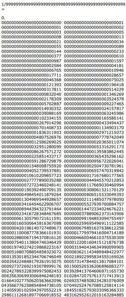 Los Números Y Los Inversos De Fibonacci Cuaderno De Cultura Científica