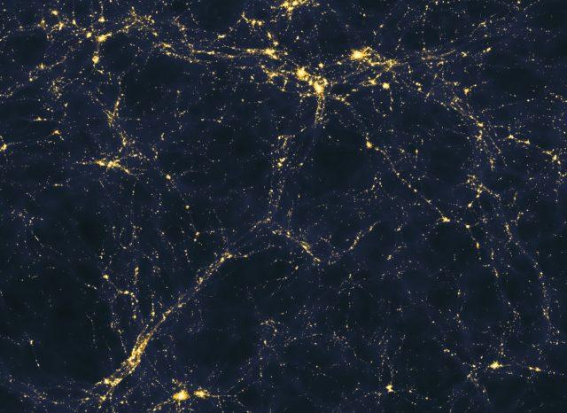 Estructura a gran escala de la distribución de luz en el universo.