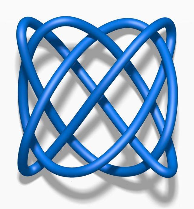 El nudo Lissajous tiene número de cruce igual a 8