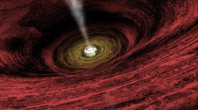 La visión de A. Hobart de un agujero negro supermasivo en crecimiento para NASA / Chandra X-Ray Observatory