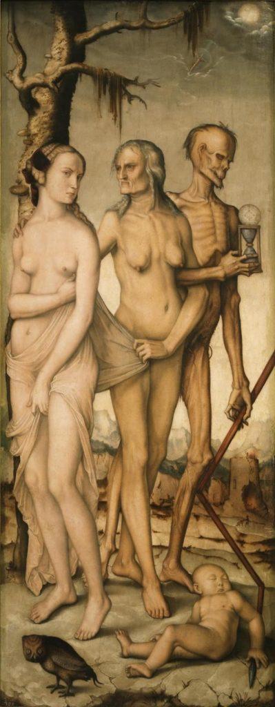 """Figura 2. Las edades y la muerte (151x61 cm) de Hans Baldung """"Grien"""" (1541-1544)"""