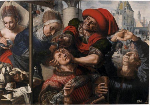 Figura 3. El cirujano (100x 141 cm) de Hemessen (1550-1555). Fuente: Museo del Prado