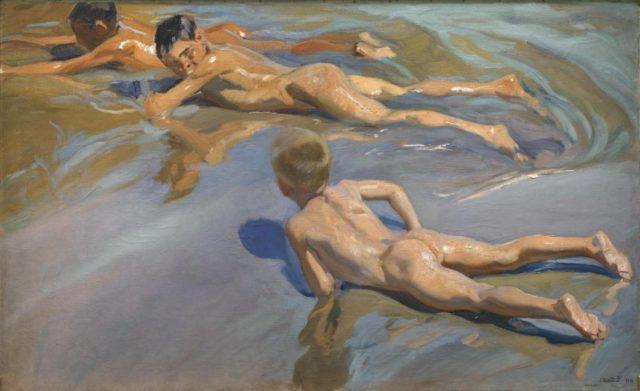 Figura 4. Chicos en la playa (118x185 cm) de Joaquín Sorolla (1909). Fuente: Museo del Prado