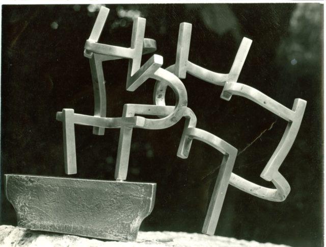 Estudio del Peine del Viento VIII Acero inoxidable Eduardo Chillida Juantegui, 1968