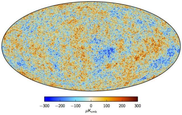 Fondo cósmico de microondas según los datos del satélite Planck publicados en 2015