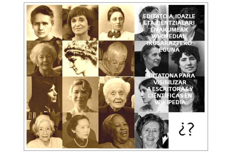 Editatona para visibilizar a escritoras y científicas en la Wikipedia