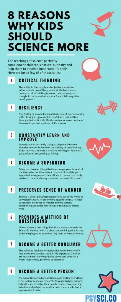 8 razones para que los niños estudien ciencias… o cualquier otra cosa