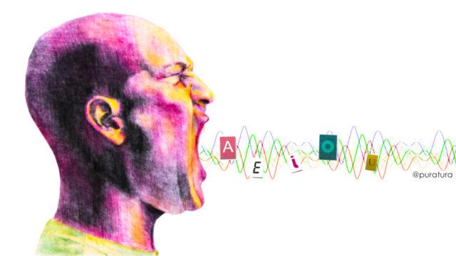 Las vocales se distinguen solo por la intensidad relativa de los armónicos (Ilustración Almudena M. Castro)