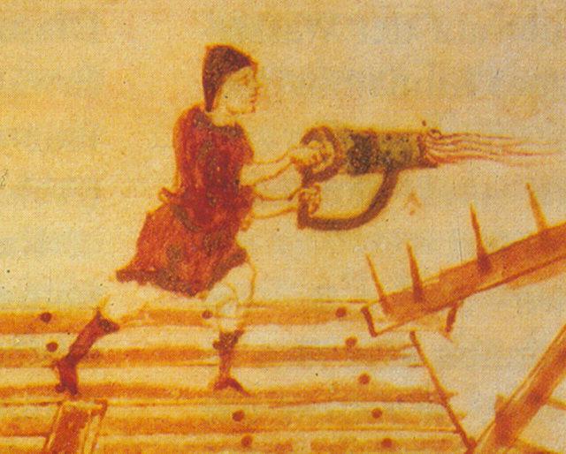 """Un """"cheirosiphōn"""", un sifón de mano."""