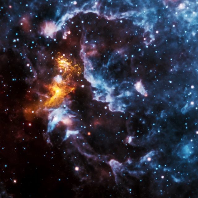Six images that combine Chandra data with those from other telescopes.