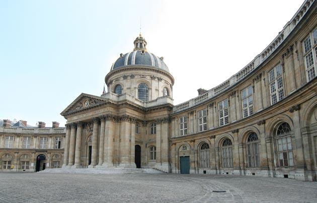 Institut de France, lugar de reunión de l?academie des Sciences en 23 quai Conti