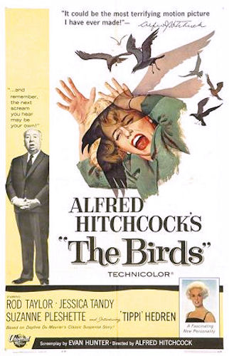 "Cartel original de ""The Birds"" (""Los pájaros"") de Alfred Hitchcock (1963)"