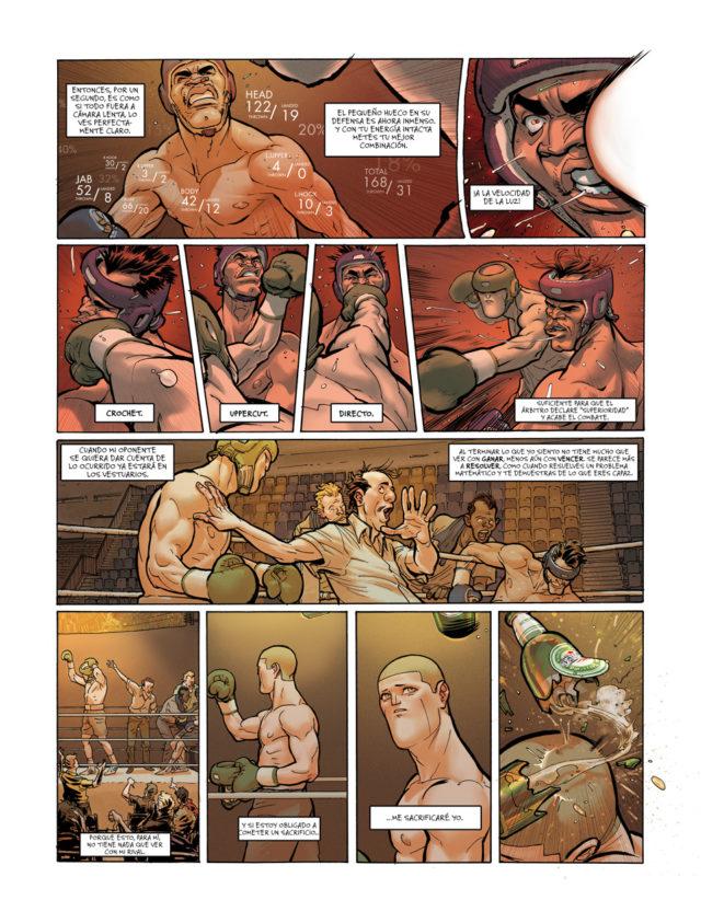 """Una de las páginas iniciales del primer volumen, """"Pierre"""", del cómic """"Ken Games"""""""