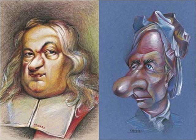 Caricaturas de Fermat y Euler, pertenecientes a la exposición El Rostro Humano de las Matemáticas, que puede verse online en divulgamat [http://vps280516.ovh.net/divulgamat15/index.php?option=com_content&view=article&id=11596:enero-2008-el-rostro-humano-de-las-matematicas&catid=62:exposiciones-con-historia&directory=67]