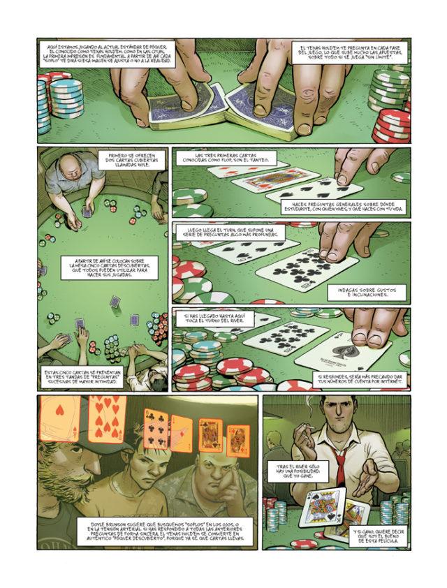 """Una de las páginas iniciales del segundo volumen, """"Feuille"""", del cómic """"Ken Games"""""""