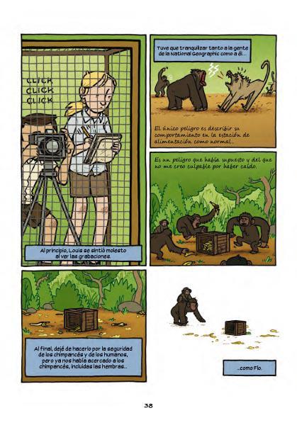 Primates. La intrépida ciencia de Jane Goodall, Dian Fossey y Biruté Galdikas, Jim Ottaviani y Maris Wicks, Norma Editorial, 2015
