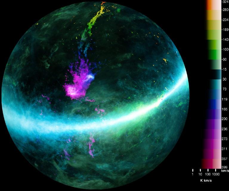 El hidrógeno en el Universo (II):  El mapa espiral de la Vía Láctea