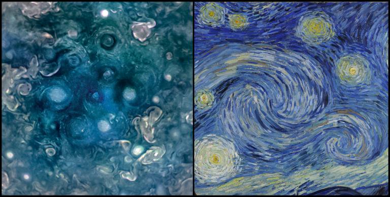 Juno, Júpiter, arte y amoniaco