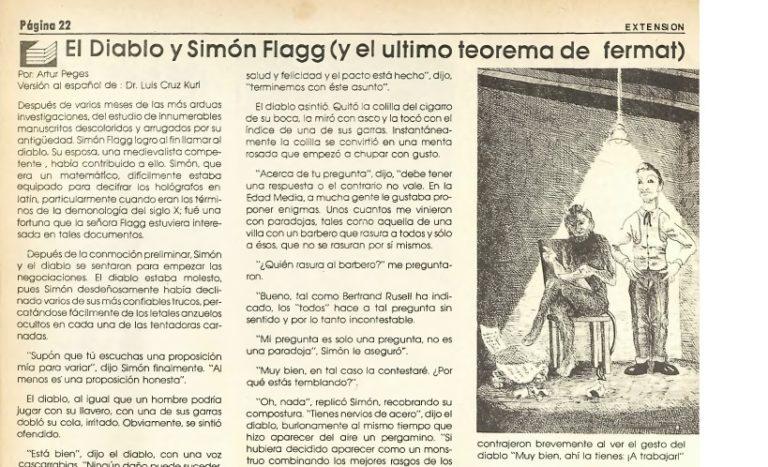 El diablo y Simon Flagg, una lectura ligera para el verano