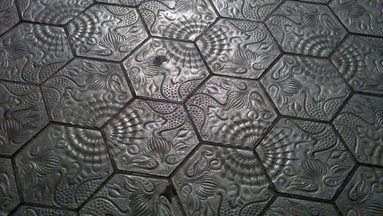 Mosaicos hexagonales para el verano